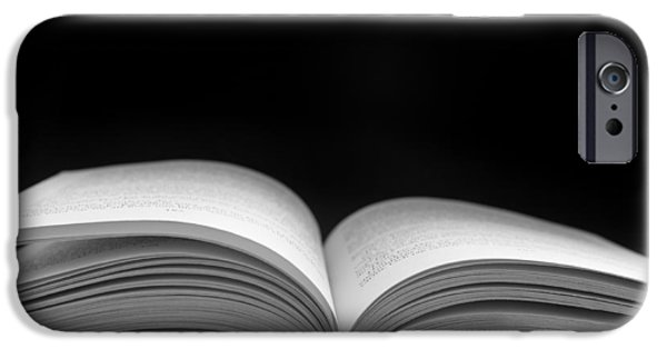 Concept Art iPhone Cases - Open book iPhone Case by Marcus Karlsson Sall