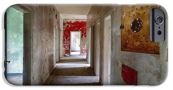Haunted House iPhone Cases - Open Doors - Abandoned Building iPhone Case by Dirk Ercken