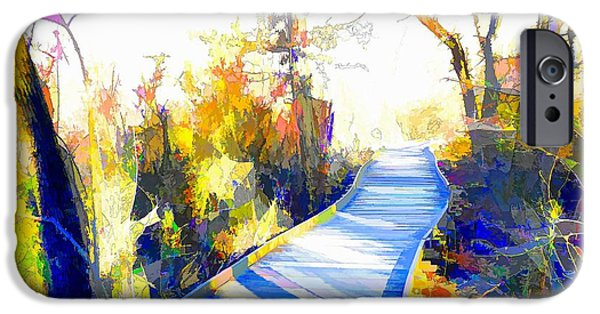 Abstract Digital Photographs iPhone Cases - Open Pathway Meditative Space iPhone Case by Robyn King