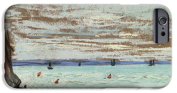 Sailboat Ocean iPhone Cases - Open Sea iPhone Case by Claude Monet