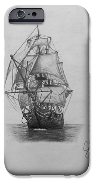 Pirate Ship iPhone Cases - Open Seas iPhone Case by Cody Cole