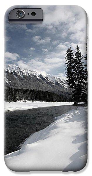 Open water in winter iPhone Case by Mark Duffy