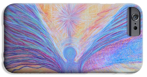 Connection Pastels iPhone Cases - Opening Wings - Photo Version 1 iPhone Case by Jamie Rogers