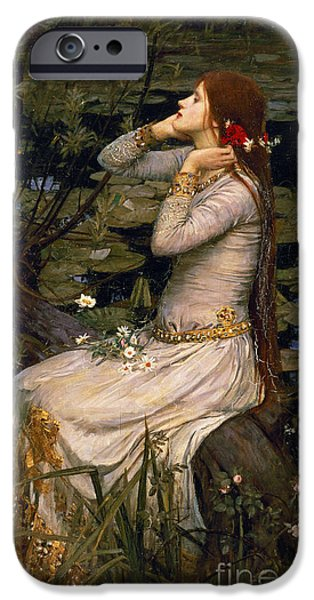 Long Hair iPhone Cases - Ophelia iPhone Case by John William Waterhouse