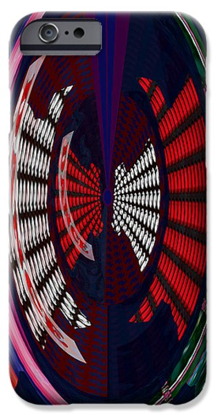 Abstract Digital Mixed Media iPhone Cases - Opposit Arc Pattern Abstract Digital Graphic Art Interior Decorations buy painting print poster pill iPhone Case by Navin Joshi