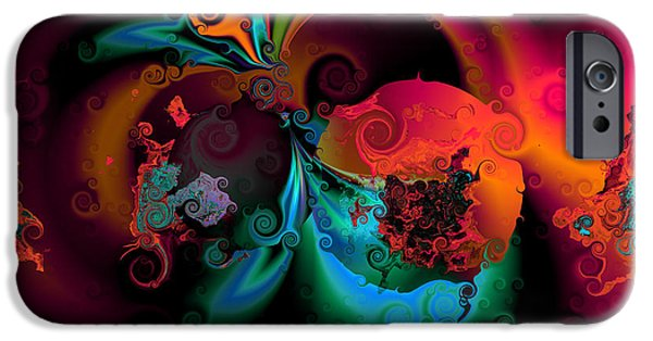 """digital Abstract"" iPhone Cases - Opposit parties iPhone Case by Claude McCoy"