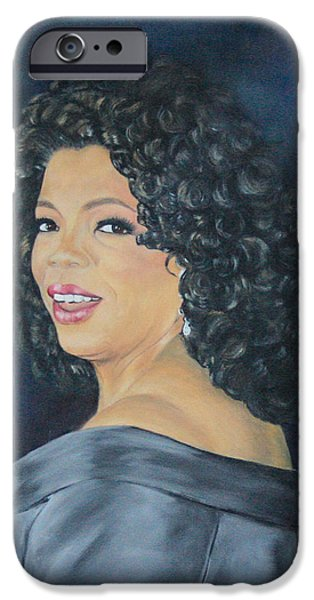 Obama iPhone Cases - Oprah Winfrey iPhone Case by Jeanne Silver