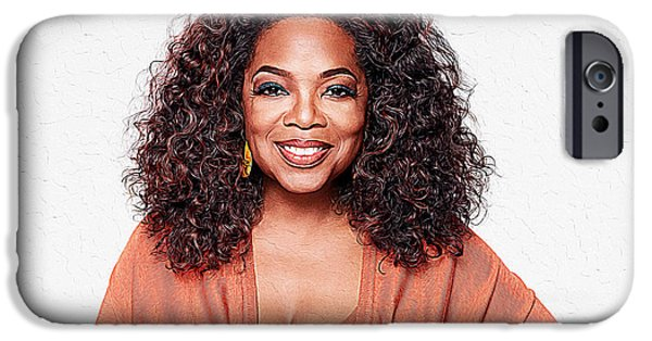 Obama iPhone Cases - Oprah Winfrey iPhone Case by Queso Espinosa