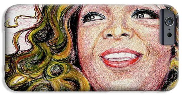 African American Diet iPhone Cases - Oprah Winfrey iPhone Case by Yoshiko Mishina