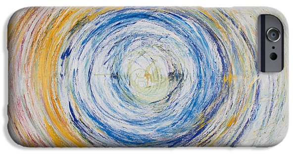 Recently Sold -  - Abstract Expressionist iPhone Cases - Opt.25.15 Tunnel of Hope iPhone Case by Derek Kaplan