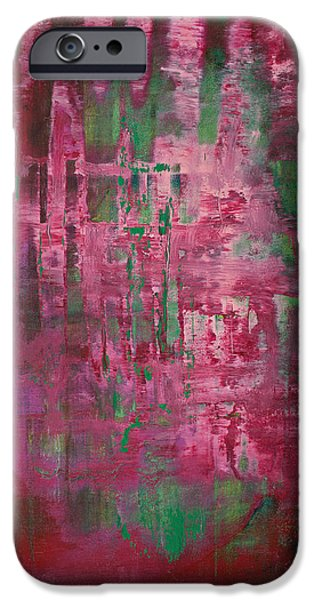 Recently Sold -  - Abstract Expressionist iPhone Cases - Opt.49.15 Secret Eyes iPhone Case by Derek Kaplan