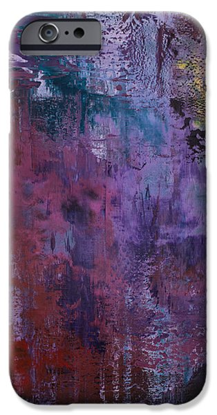 Recently Sold -  - Abstract Expressionist iPhone Cases - Opt.50.15 Whisper In The Night iPhone Case by Derek Kaplan