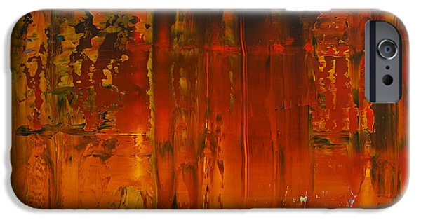 Recently Sold -  - Abstract Expressionist iPhone Cases - Opt.56.15 Ascension  iPhone Case by Derek Kaplan