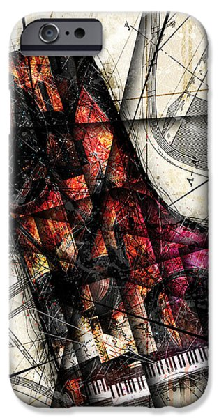 Piano Digital Art iPhone Cases - Opus 1 iPhone Case by Gary Bodnar