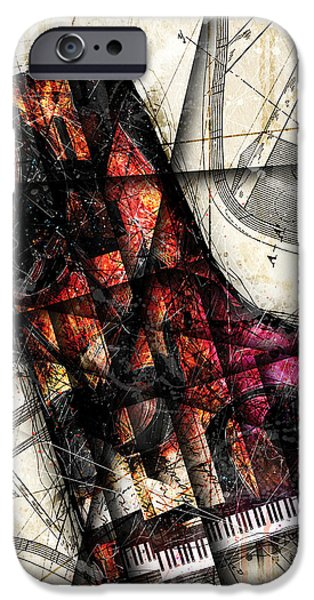 Piano Digital Art iPhone Cases - Opus I iPhone Case by Gary Bodnar