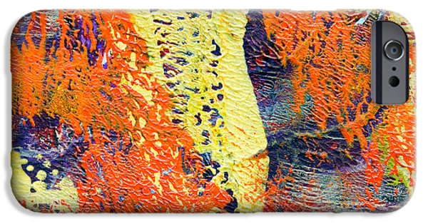 Abstract Digital Mixed Media iPhone Cases - Orange and Yellow Abstract iPhone Case by Laura L Leatherwood