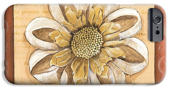 Graphic Design iPhone Cases - Orange Bohemian Dahlia 2 iPhone Case by Debbie DeWitt