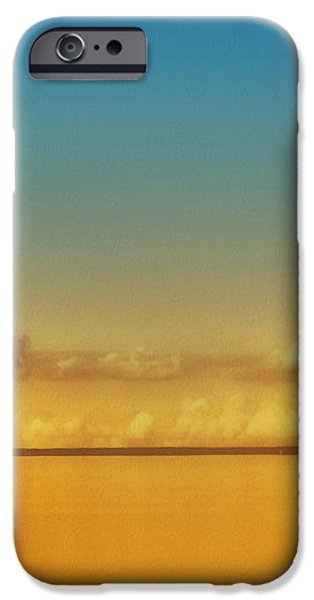 Orange Clouds iPhone Case by Dapixara Art
