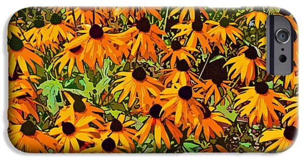 Abstract Digital Photographs iPhone Cases - Orange Explosion iPhone Case by Jean Hall