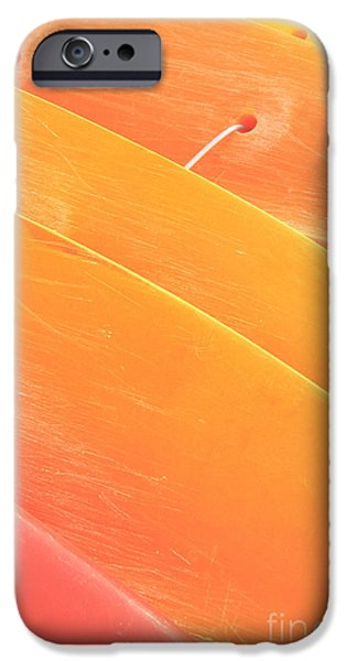 Orange Kayaks iPhone Case by Brandon Tabiolo - Printscapes