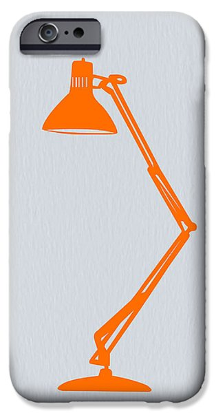 Modernism iPhone Cases - Orange Lamp iPhone Case by Naxart Studio