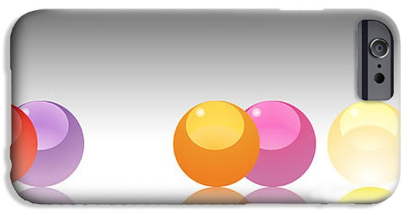 Abstract Digital iPhone Cases - Orange marbles iPhone Case by Nomi Elboim