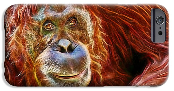 Orangutan iPhone Cases - Orangutan Collection iPhone Case by Marvin Blaine