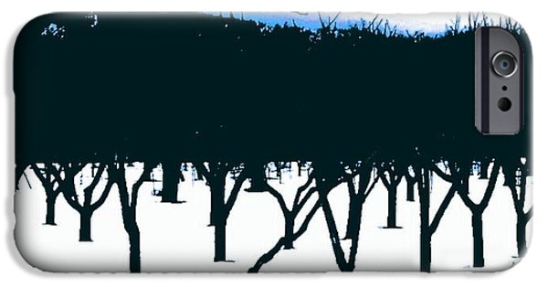 Snow iPhone Cases - Orchard Snow iPhone Case by The Arty-Smarty