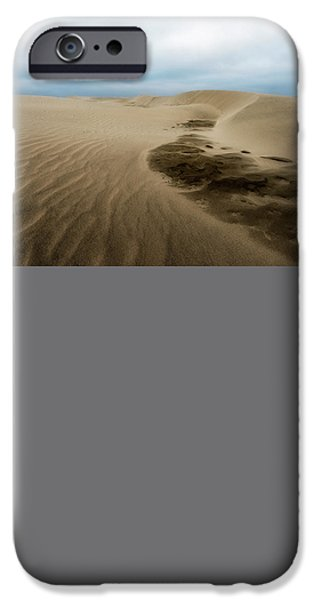 Agate Beach Oregon iPhone Cases - Oregon Dune Wasteland 1 iPhone Case by Ryan Manuel