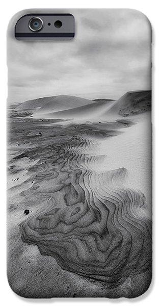 Agate Beach Oregon iPhone Cases - Oregon Dune Wasteland 2 iPhone Case by Ryan Manuel