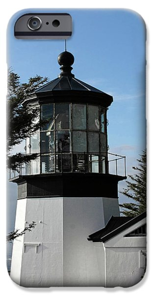 Head Harbour Lighthouse iPhone Cases - Oregon Lighthouses - Cape Meares Lighthouse iPhone Case by Christine Till