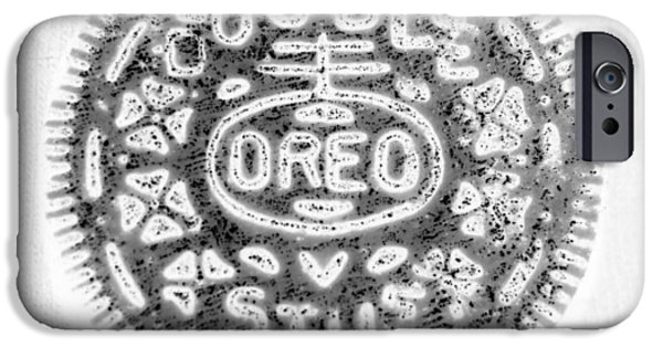 Oreos iPhone Cases - OREO in NEGETIVE iPhone Case by Rob Hans