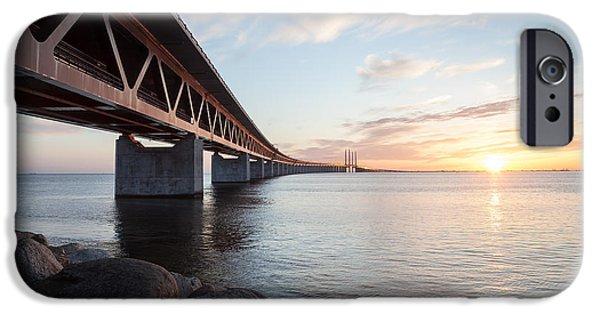 Recently Sold -  - Connection iPhone Cases - Oresund Bridge iPhone Case by Jorgen Nilsson