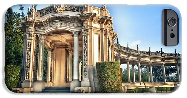Historic Buildings iPhone Cases - Organ Pavillion at Balboa Park iPhone Case by Larry Marshall