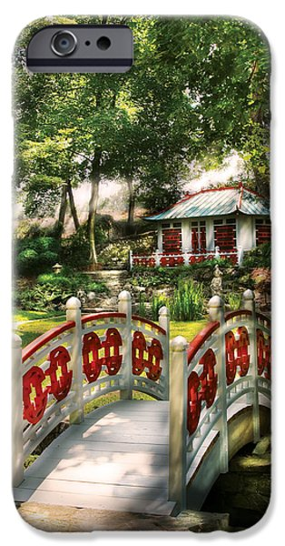 Orient - Bridge - The bridge to the Temple  iPhone Case by Mike Savad