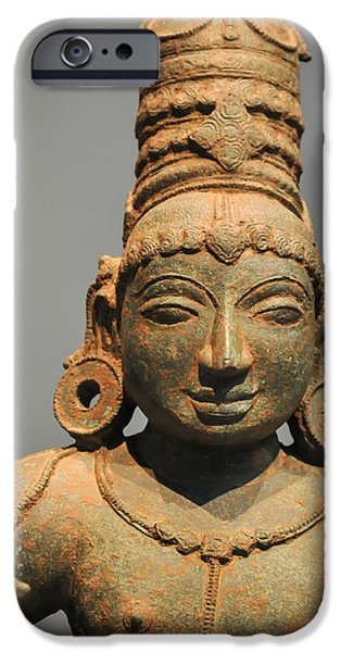 Smithsonian iPhone Cases - Oriental Art Statue iPhone Case by William Krumpelman