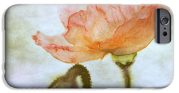 Sears Tower iPhone Cases - Oriental Poppy and Bud iPhone Case by Julie Palencia