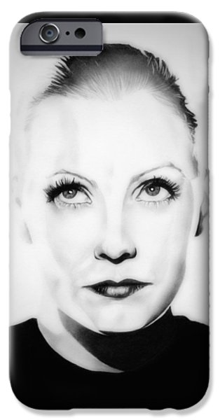 The Tramp iPhone Cases - Original Greta Garbo iPhone Case by Fred Larucci