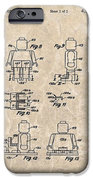 Toy Store iPhone Cases - Original Lego Man Patent iPhone Case by Dan Sproul