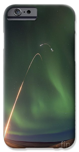 Space-craft iPhone Cases - Oriole Iv Sounding Rocket Launch iPhone Case by Science Source