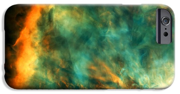 Hubble Telescope Images iPhone Cases - Orion Nebula Fire Sky iPhone Case by The  Vault - Jennifer Rondinelli Reilly