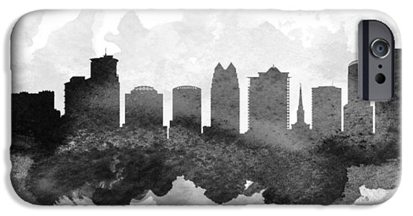 iPhone Cases - Orlando Cityscape 11 iPhone Case by Aged Pixel