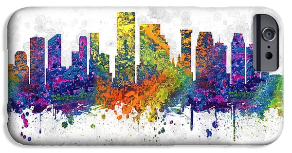 Down Town iPhone Cases - Orleans Louisiana color 03SQ iPhone Case by Aged Pixel