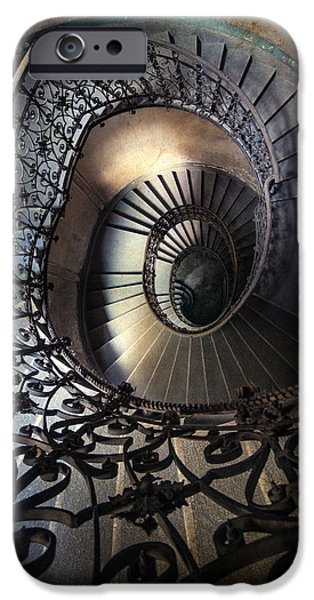 Business Photographs iPhone Cases - Ornamented spirals iPhone Case by Jaroslaw Blaminsky
