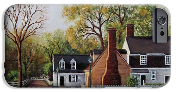 Yorktown Virginia iPhone Cases - Orrell House iPhone Case by Gulay Berryman