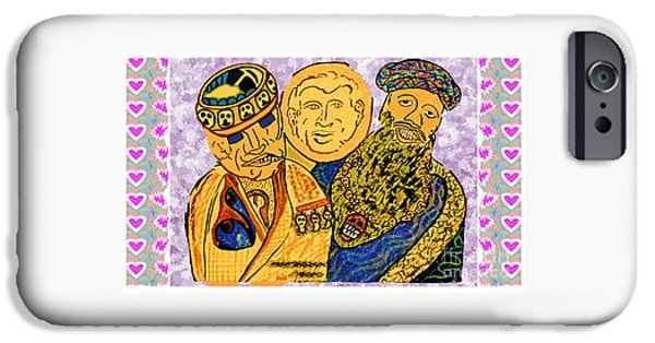 Iraq iPhone Cases - Osama Bin Laden Dick Chenny and George Bush era Cartoons by NavinJoshi iPhone Case by Navin Joshi