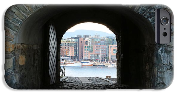 Oslo iPhone Cases - Oslo Castle Archway iPhone Case by Carol Groenen