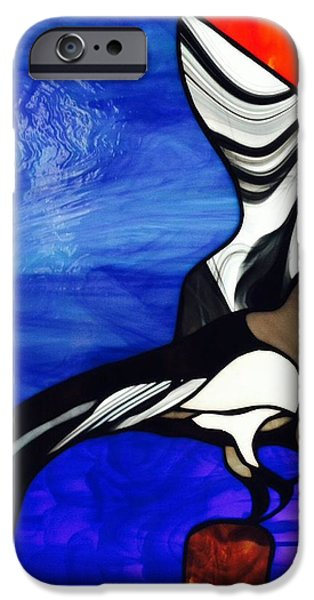 Sea Birds Glass iPhone Cases - Osprey  iPhone Case by Kathryn Fitzgerald