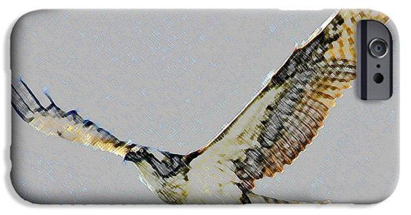 Hawk Art iPhone Cases - Osprey pair iPhone Case by David Lee Thompson