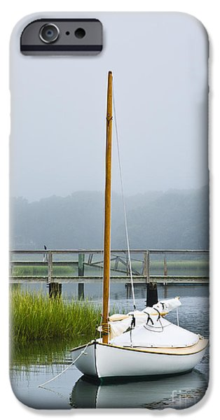 Cape Cod iPhone Cases - Osterville Sailboat iPhone Case by John Greim